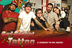 Red Rocket Tattoo featured in Tattoo Magazine