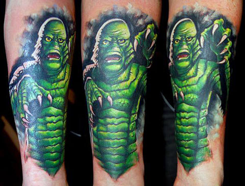Creature tattoo from TattooNOW