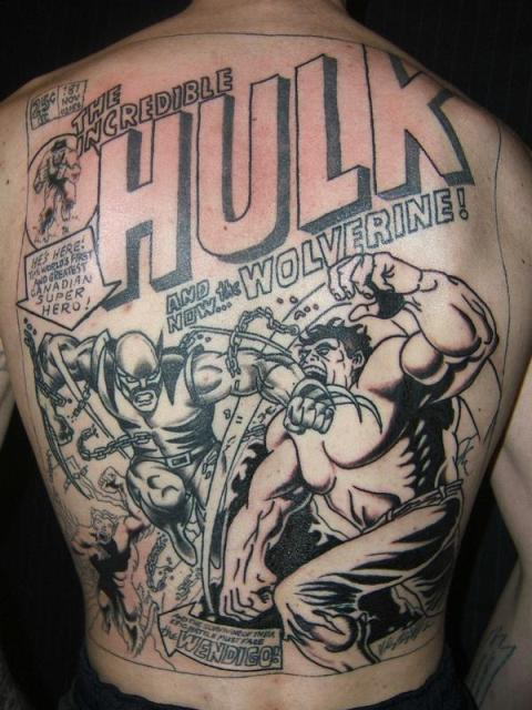 Hulk AND Wolverine Tattoo